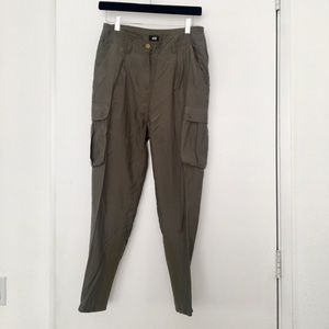 H&M green cargo jogger trouser pant size 4